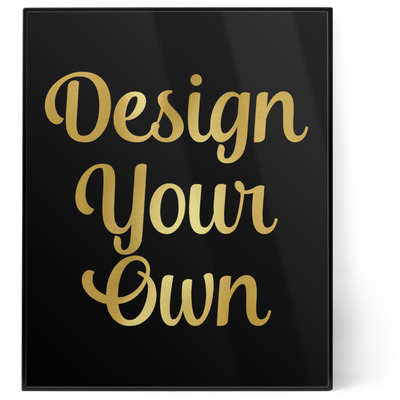 Design Your Own Personalized 8x10 Foil Wall Art - Black