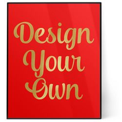 Design Your Own 8x10 Foil Wall Art - Red (Personalized)