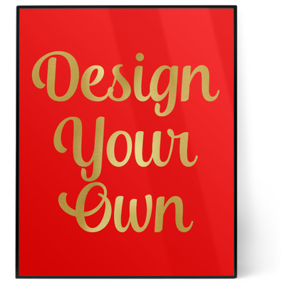 Design Your Own Personalized 8x10 Foil Wall Art - Red