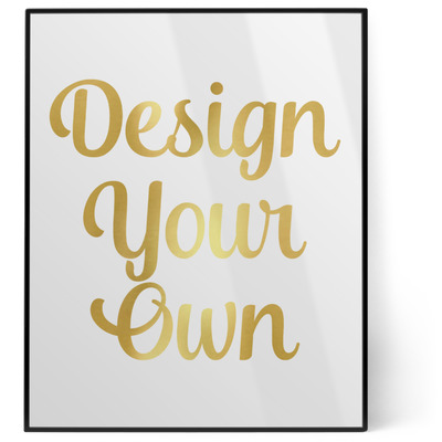Design Your Own Personalized 8x10 Foil Wall Art - White