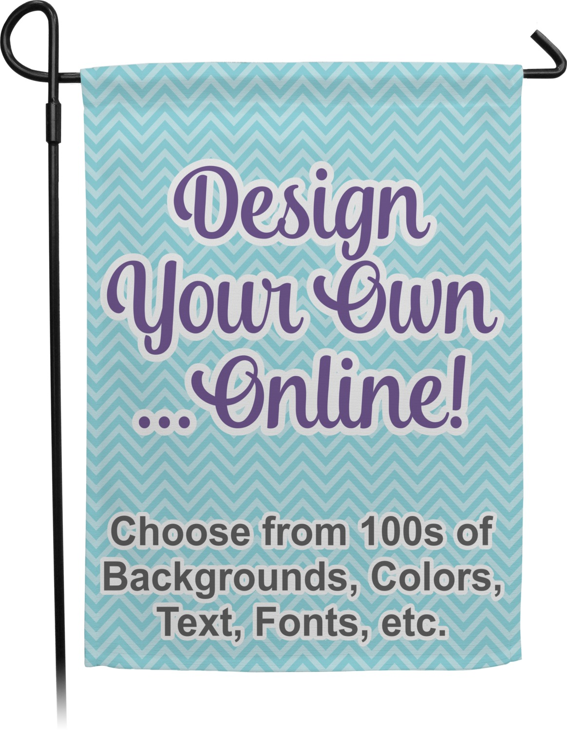 Design your own garden flag personalized youcustomizeit for Garden design your own
