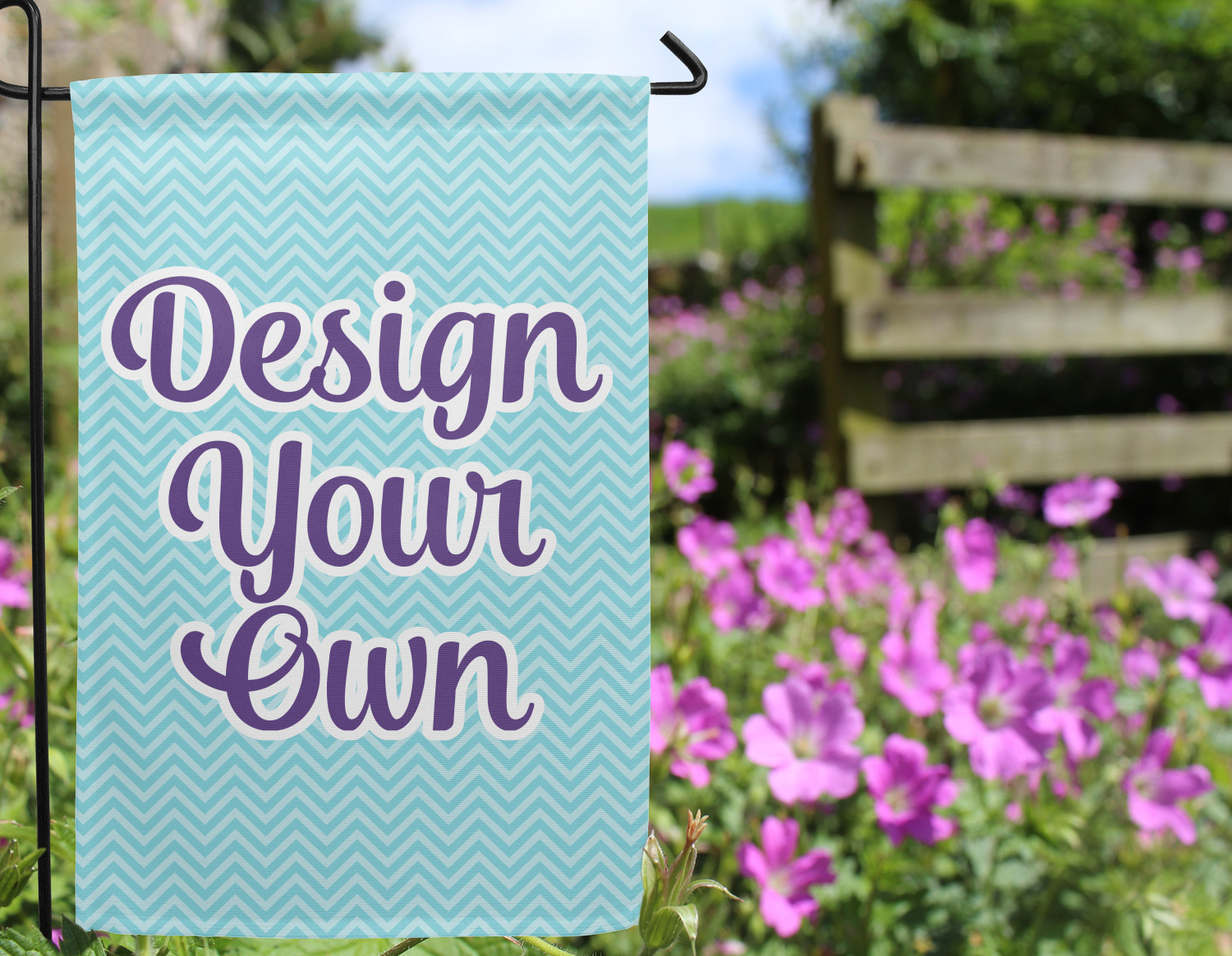 ... Design Your Own Garden Flag   Outside In Flowers ...