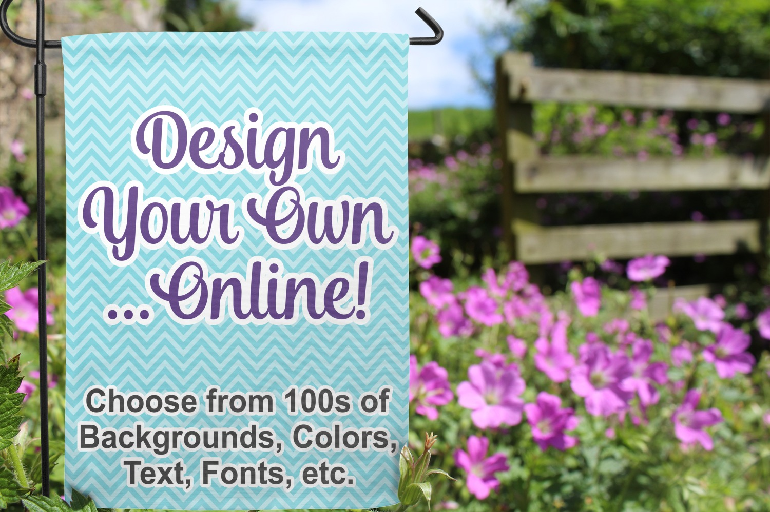 Design your own garden flag personalized youcustomizeit for Design your own garden