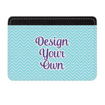 Design Your Own Genuine Leather Front Pocket Wallet (Personalized)
