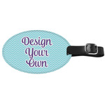 Design Your Own Genuine Leather Oval Luggage Tag (Personalized)