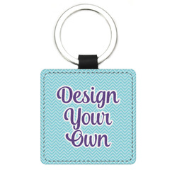 Design Your Own Genuine Leather Rectangular Keychain (Personalized)