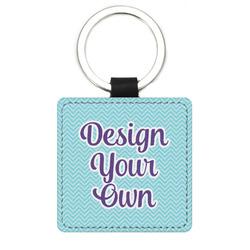 Design Your Own Genuine Leather Rectangular Keychain