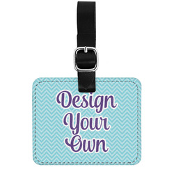 Design Your Own Genuine Leather Rectangular  Luggage Tag (Personalized)