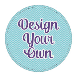 Design Your Own Round Desk Weight - Genuine Leather