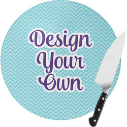 Design Your Own Round Glass Cutting Board (Personalized)