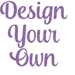 Design Your Own Glitter Sticker Decal - Custom Sized