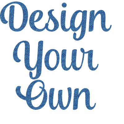 Design Your Own Personalized Glitter Sticker Decal - Custom Sized