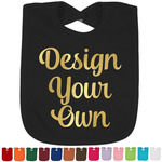 Design Your Own Foil Toddler Bibs - Select Bib Color & Foil Color (Personalized)