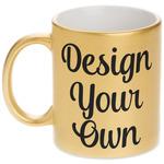 Design Your Own Metallic Gold Mug