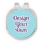 Design Your Own Golf Ball Marker - Hat Clip - Silver