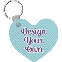 Design Your Own Heart Plastic Keychain