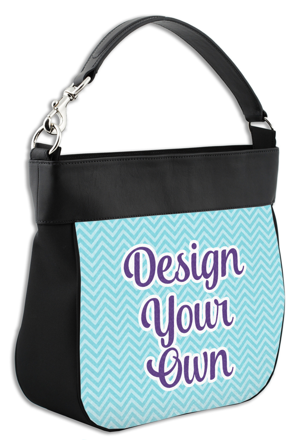 Design Your Own Hobo Purse W Genuine Leather Trim Personalized