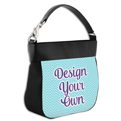 Design Your Own Personalized Hobo Purse w/ Genuine Leather Trim