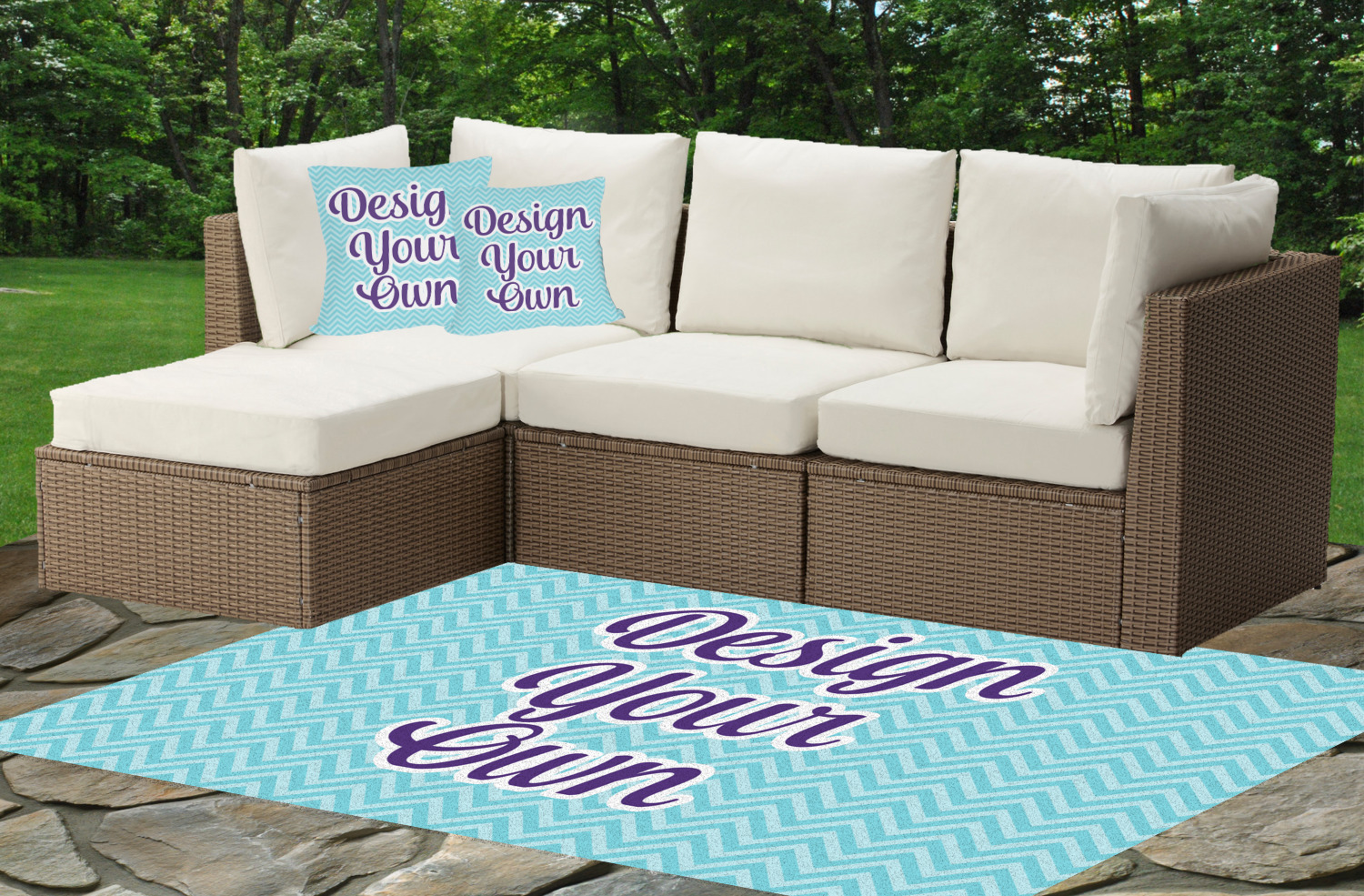Design Your Own Indoor Outdoor Rug 4 39 X6 39 Personalized Youcustomizeit