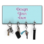 Design Your Own Key Hanger w/ 4 Hooks (Personalized)