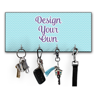 Design Your Own Personalized Key Hanger w/ 4 Hooks