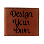 Design Your Own Leatherette Bifold Wallet (Personalized)