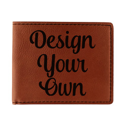 Design Your Own Leatherette Bifold Wallet - Double Sided (Personalized)