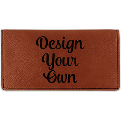 Cognac Leatherette Checkbook Holders