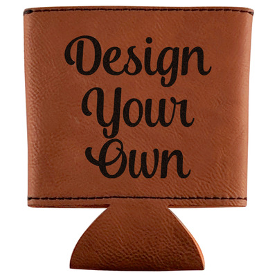 Design Your Own Personalized Leatherette Can Sleeve