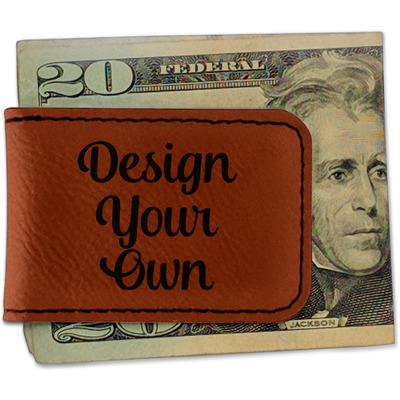 Design Your Own Personalized Leatherette Magnetic Money Clip