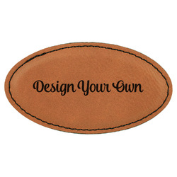 Design Your Own Leatherette Oval Name Badge with Magnet (Personalized)