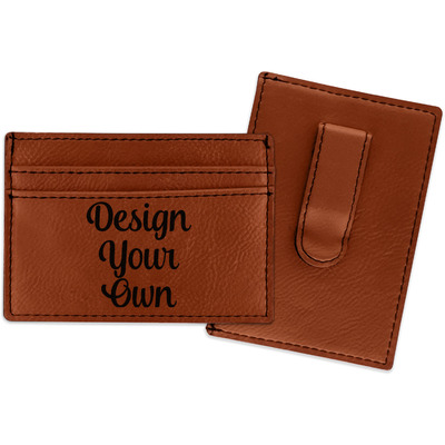 Design Your Own Personalized Leatherette Wallet with Money Clip