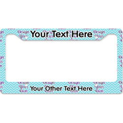Design Your Own License Plate Frame (Personalized)