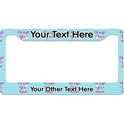 Design Your Own Personalized License Plate Frame