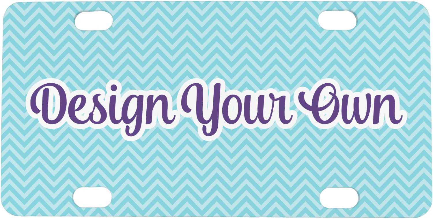 design your own mini bicycle license plate personalized