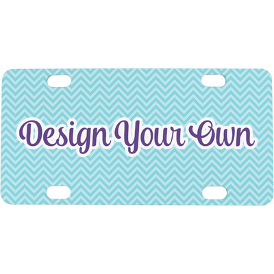 Design Your Own Mini / Bicycle License Plate (4 Holes)