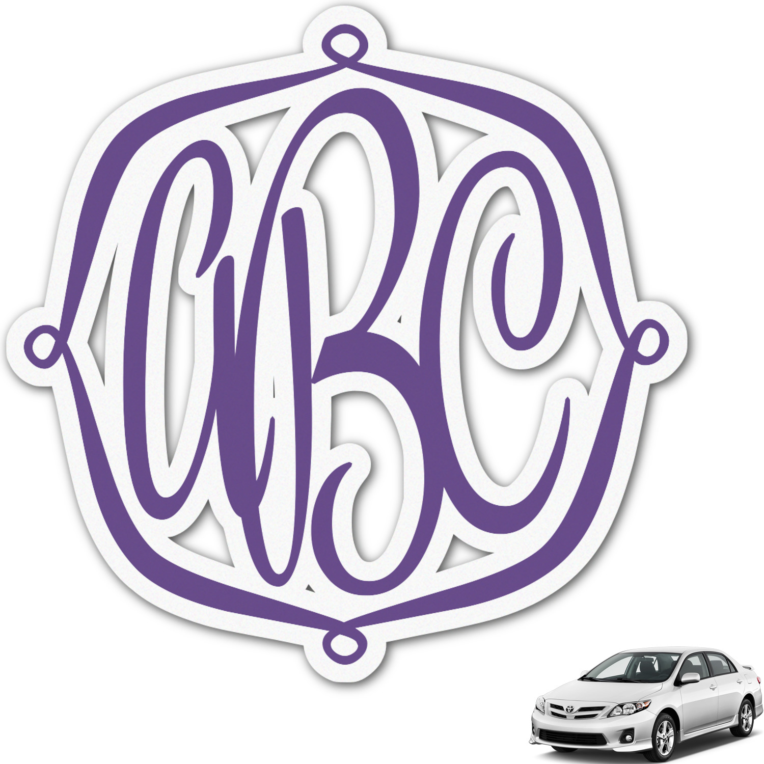 Design Your Own Car >> Design Your Own Personalized Monogram Car Decal
