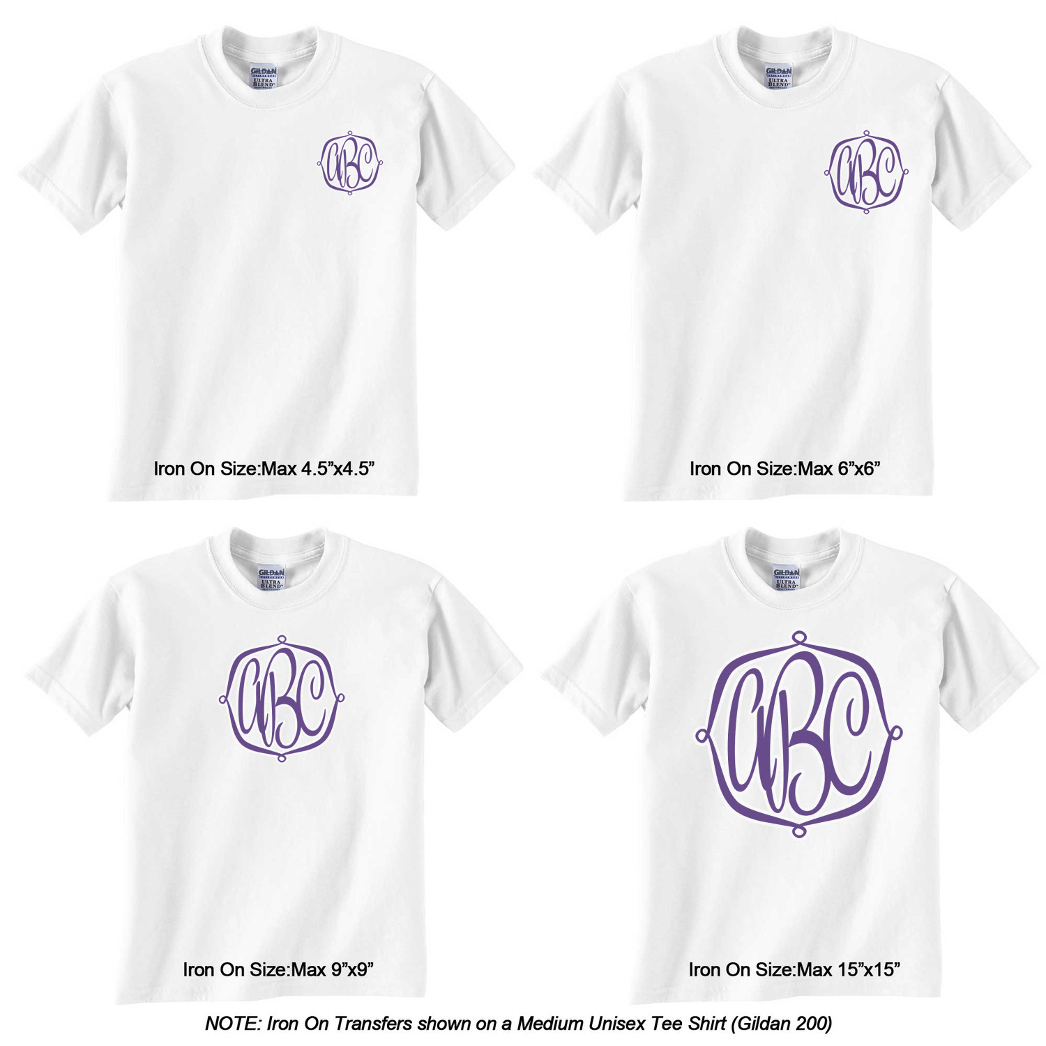 Design Your Own Monogram Iron On Transfer Up To 9 X9