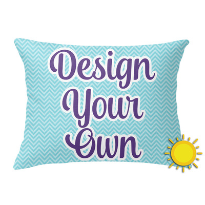 Design Your Own Personalized Outdoor Throw Pillow (Rectangular)
