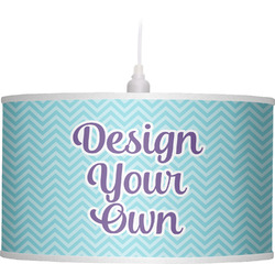 Design Your Own Drum Pendant Lamp Linen (Personalized)