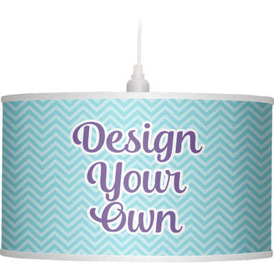 Design Your Own Personalized Drum Pendant Lamp Linen