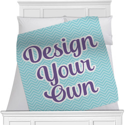 "Design Your Own Fleece Blanket - Twin / Full - 80""x60"" - Double Sided (Personalized)"