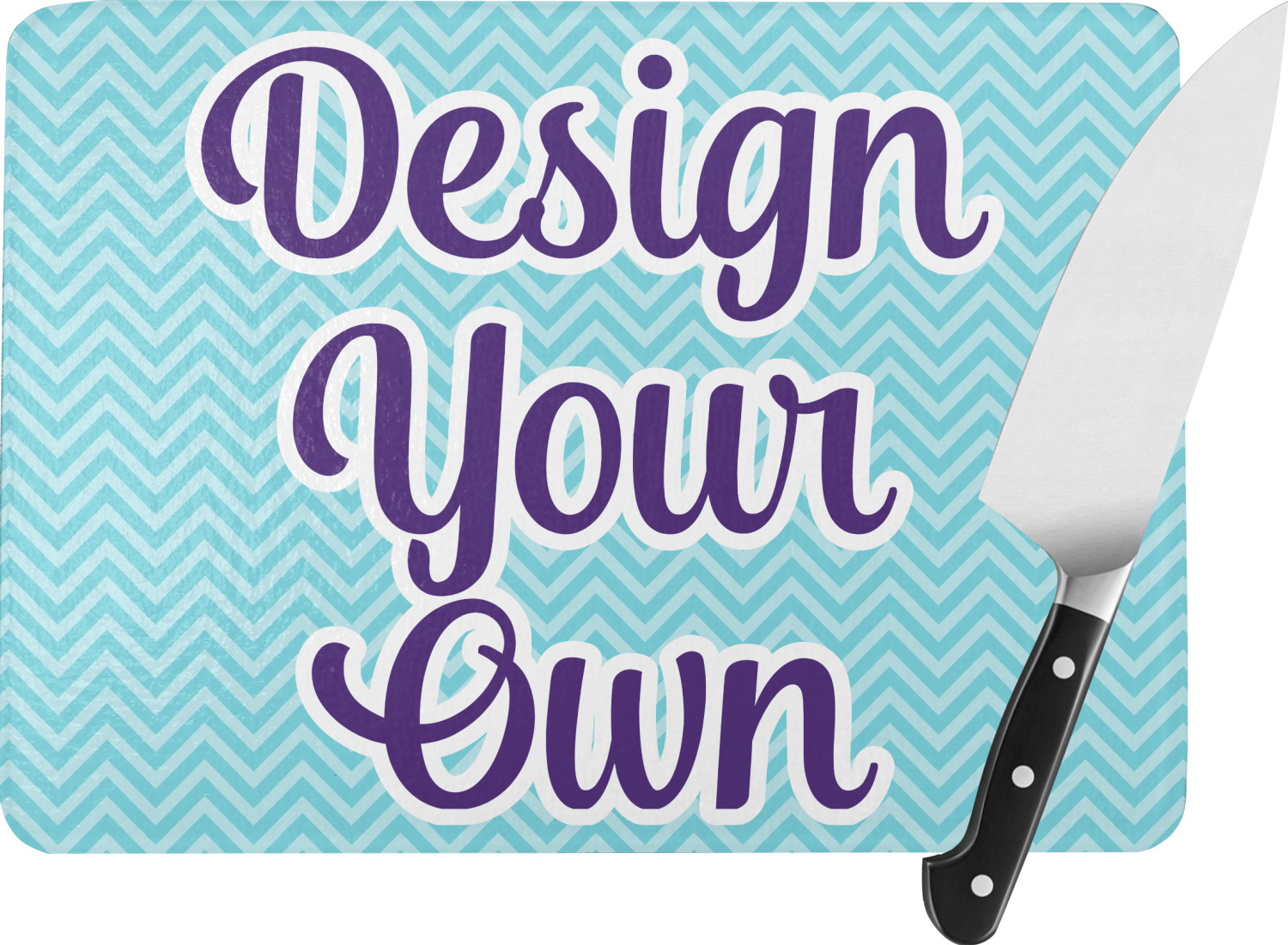 Design your own rectangular glass cutting board large for Make your own chopping board