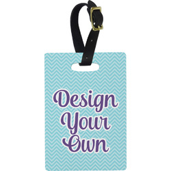 Design Your Own Plastic Luggage Tag - Rectangular