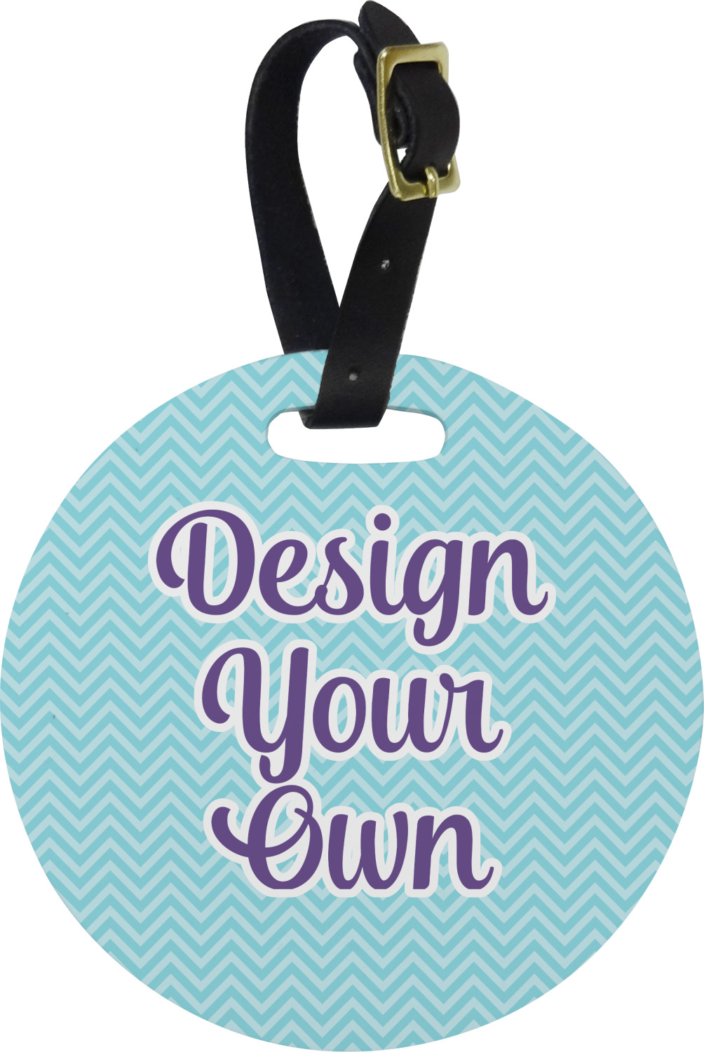 Design Your Own Round Luggage Tag Personalized