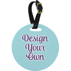 Design Your Own Plastic Luggage Tag - Round
