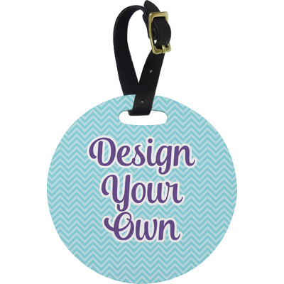 Design Your Own Personalized Round Luggage Tag