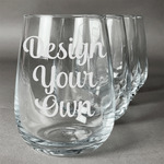 Design Your Own Wine Glasses (Stemless Set of 4) (Personalized)