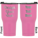 Design Your Own RTIC Tumbler - Pink - Engraved Front & Back (Personalized)