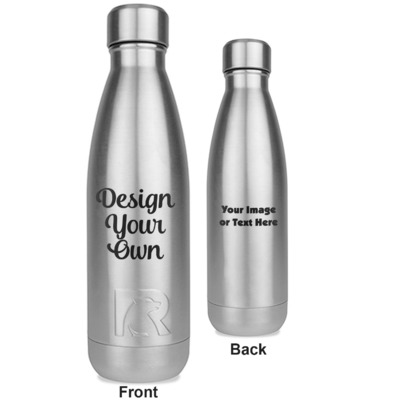 Design Your Own Personalized RTIC Bottle - Silver - Engraved Front & Back